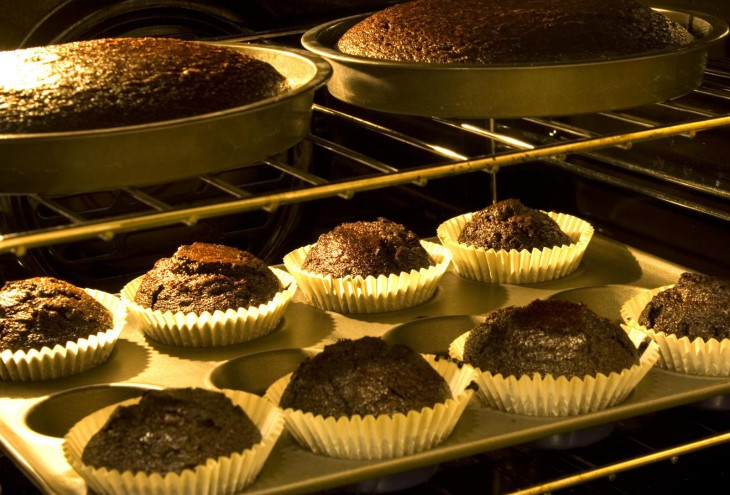 stout cakes in the oven