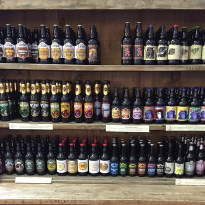 Shop selling bottled beer