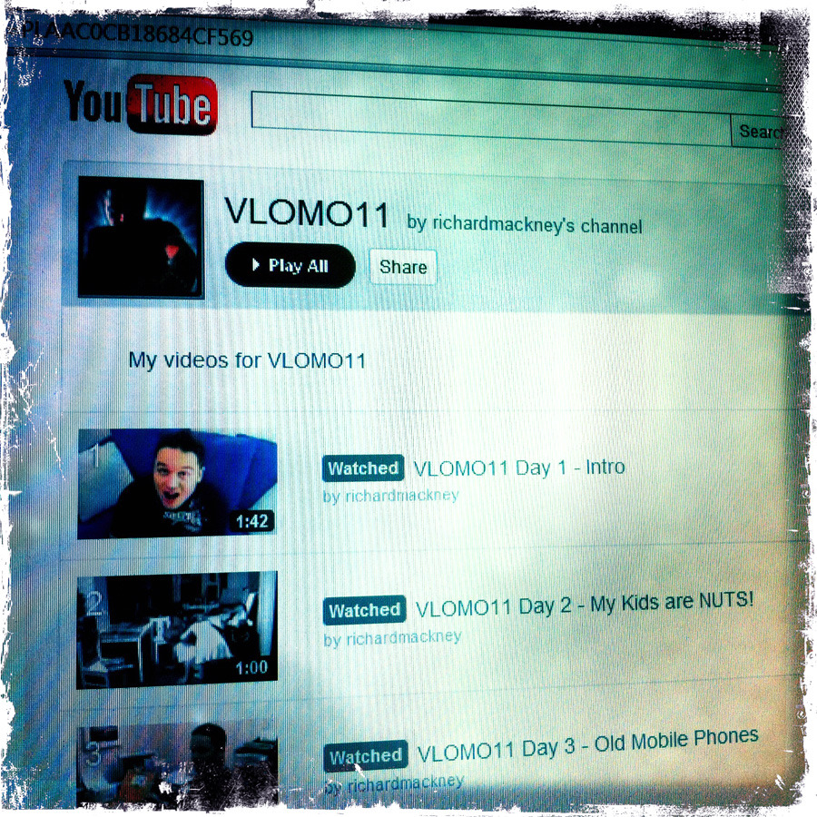 VLOMO11 Video Blogging month