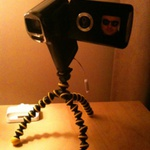 Joby Gorillapod doing it's 'job' well :) thanks to  @colinmit... on Twitpic