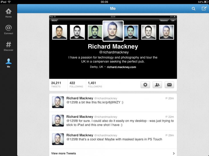 Make A Simple Twitter Header With iPad Social Apps