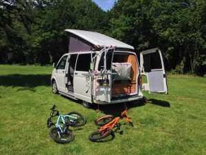 VW T5 Campervan Campsite at River Dart Country Park