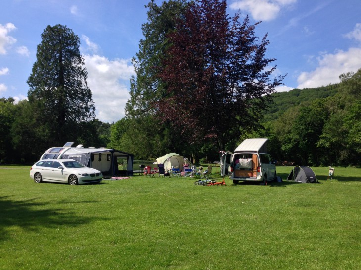 Campsite at River Dart Country Park