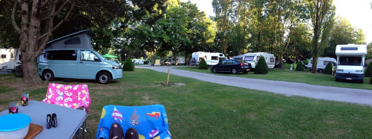 Camping La Bien Assise on our Normandy and Brittany trip
