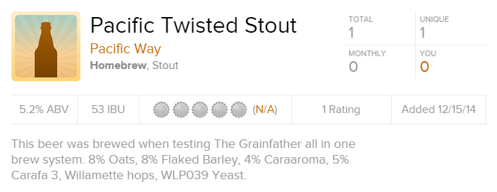 Pacific Twisted Stout Pacific Way Untappd
