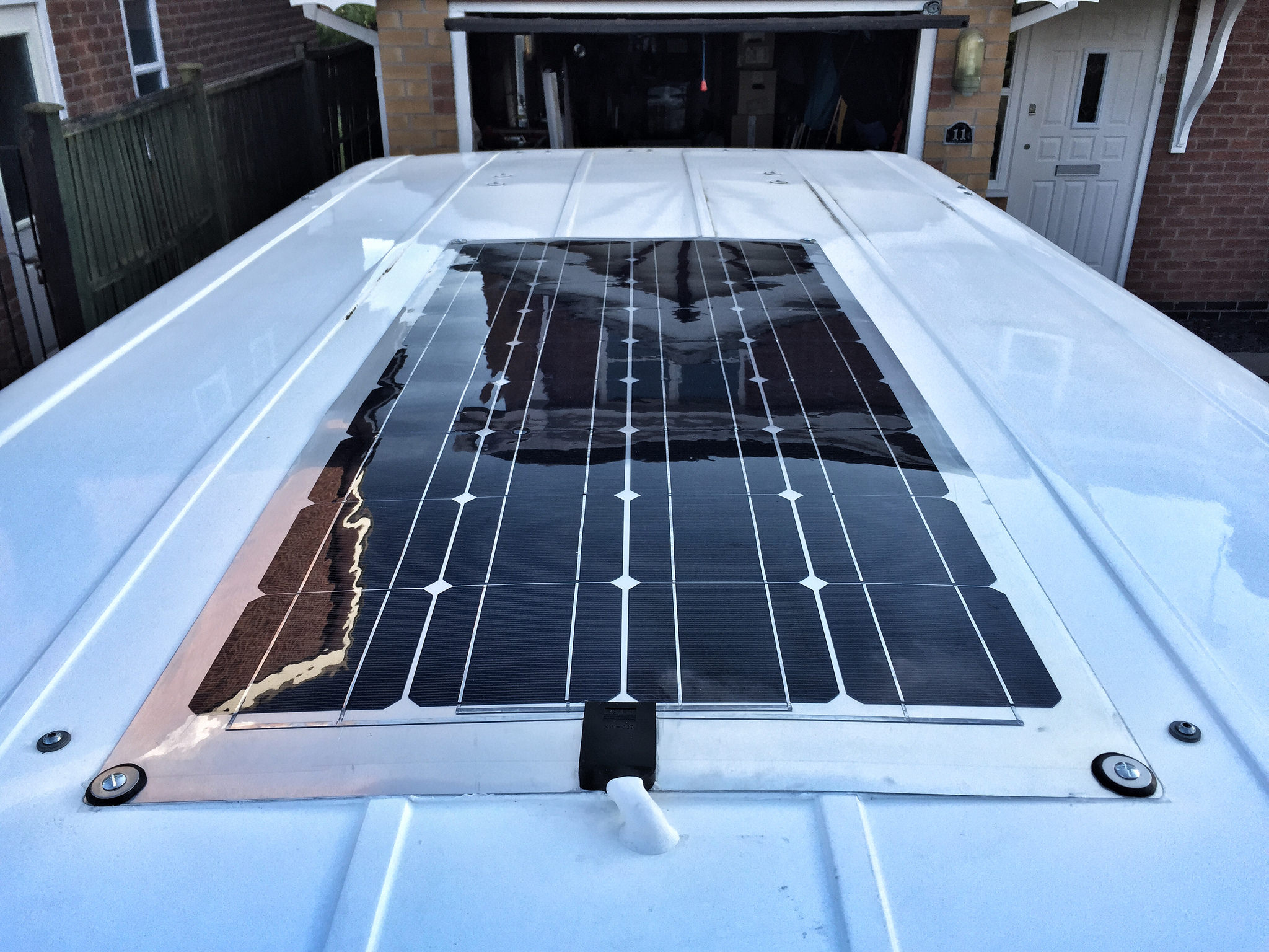 Solar panel hookup for rv