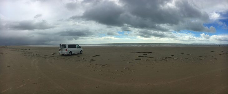 Driving on Black Rock Sands