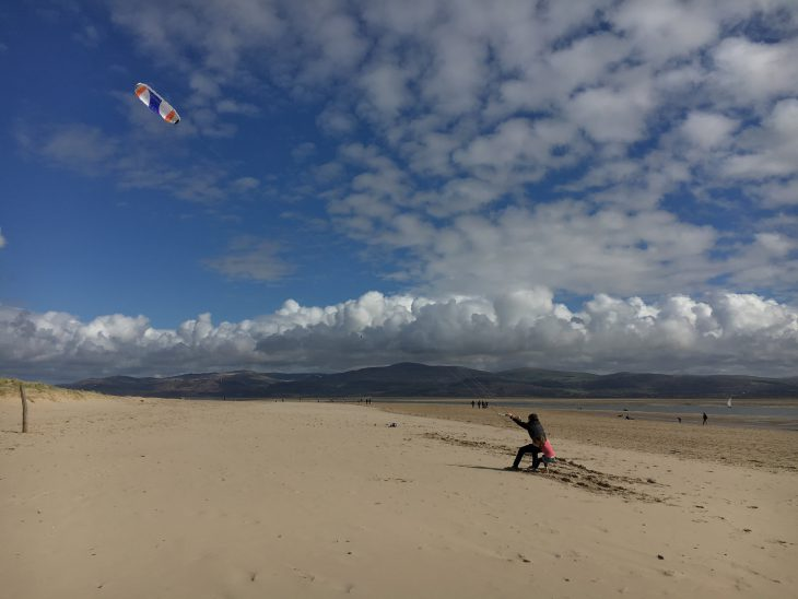 Kite Flying on Aberdyfi Beach