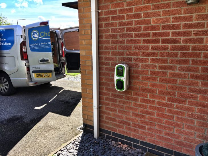 Installation of a Rolec WallPod EV Home Charge point