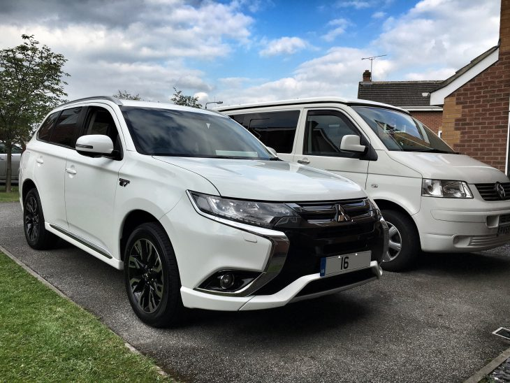 Mitsubishi Outlander PHEV with Campervan